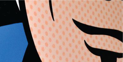 pop art canvas closeup by www.jamieleeart.com