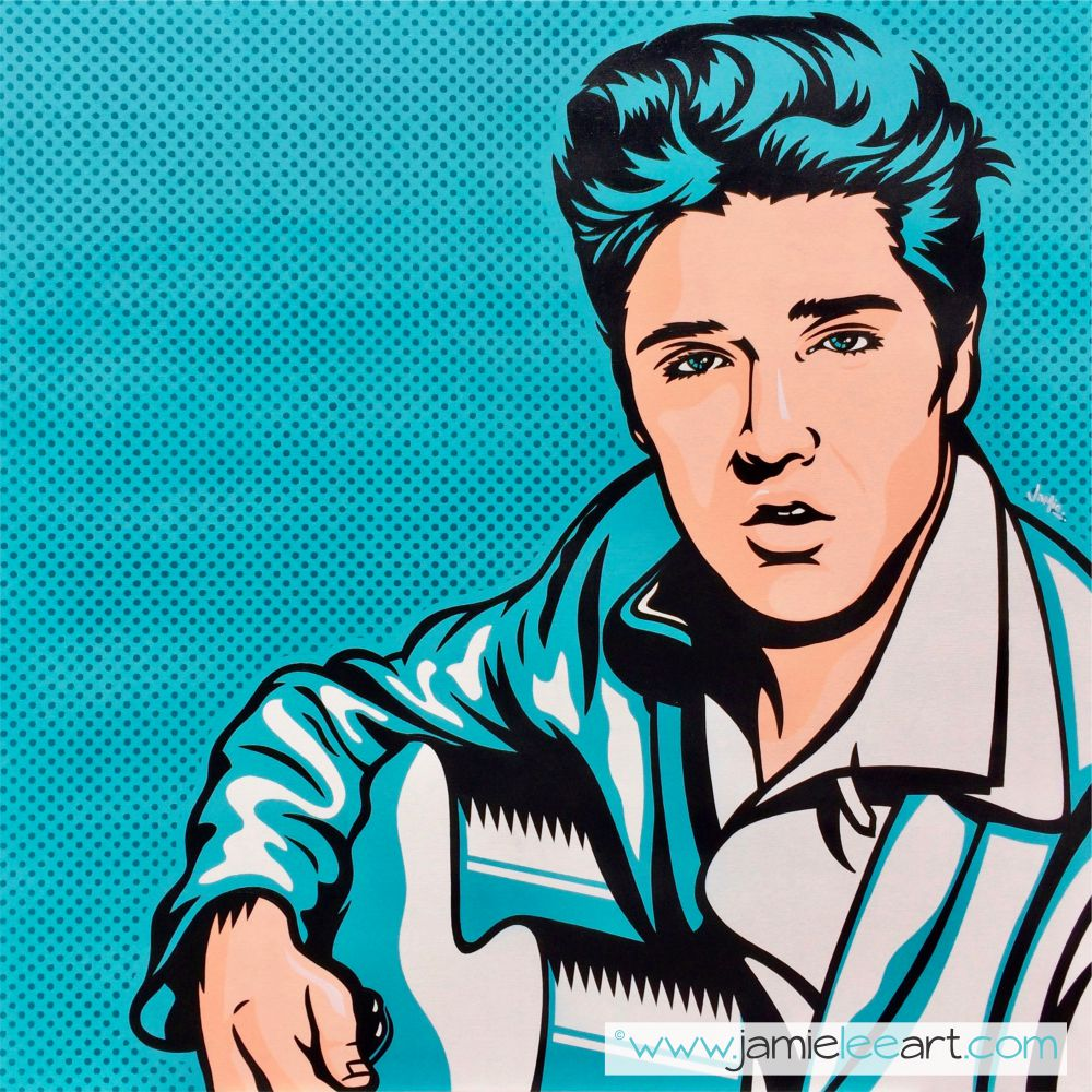 Elvis Presley Original pop art painting 80cm x 80cm