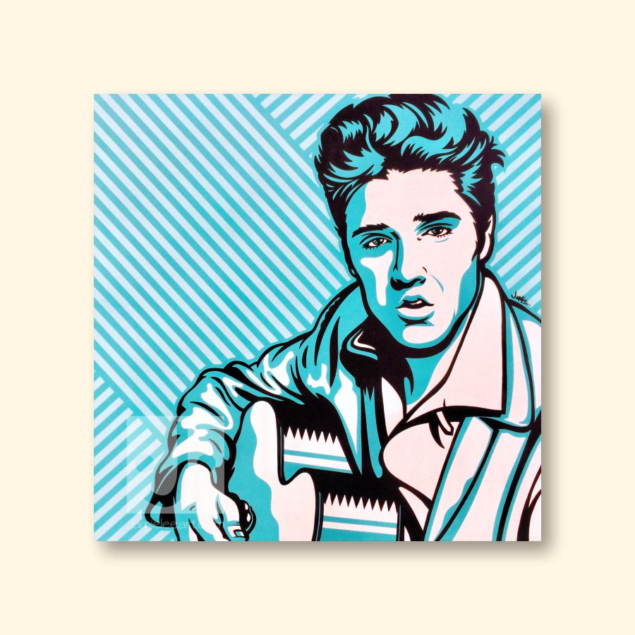 Elvis Presley pop art painting. Acrylic on canvas, 80cm x 80cm