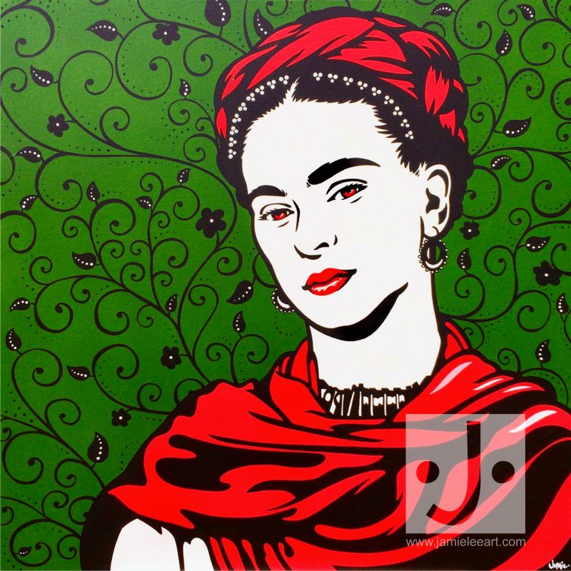 'Frida Kahlo' Acrylic on canvas 80cm x 80cm
