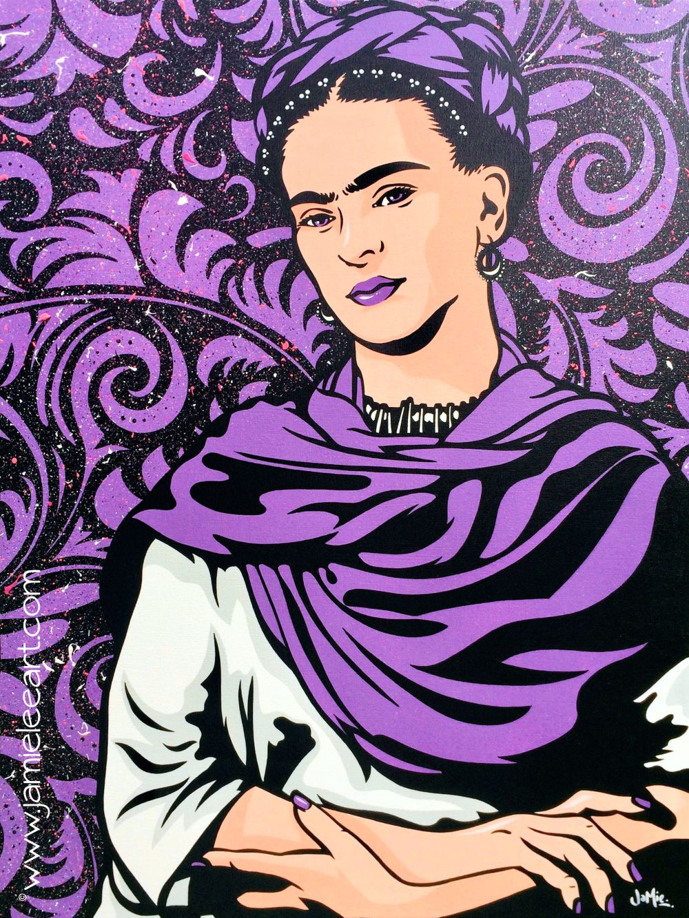 Frida Kahlo pop art. 80cm x 60cm acrylic on canvas.