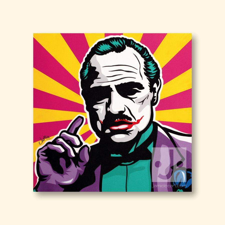 The JokeFather. Original hand-painted pop art