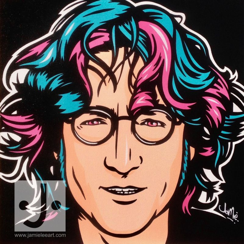 John Lennon Pop art. Acrylic on canvas, 40cm x 40cm
