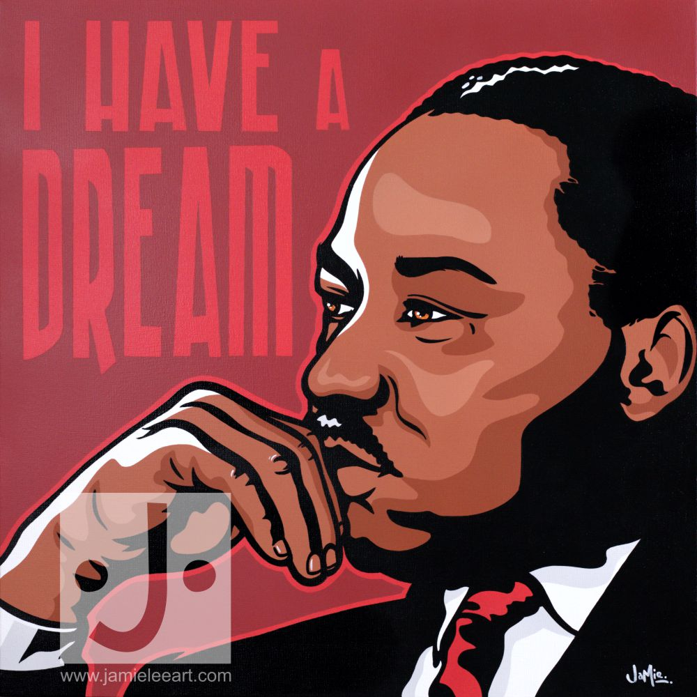 'I Have A Dream' Acrylic on canvas, 60cm x 60cm