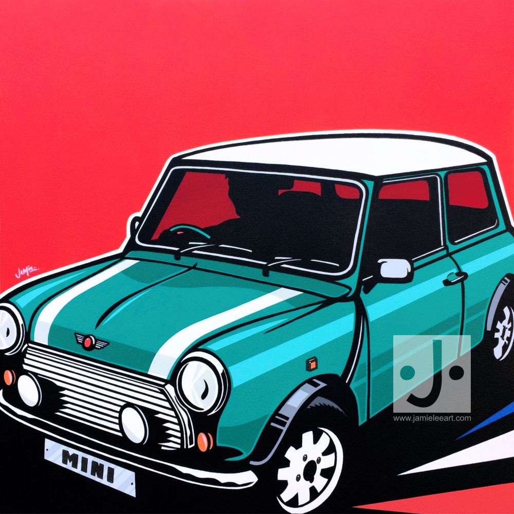 Mini Cooper, acrylic on canvas, 70cm x 70cm