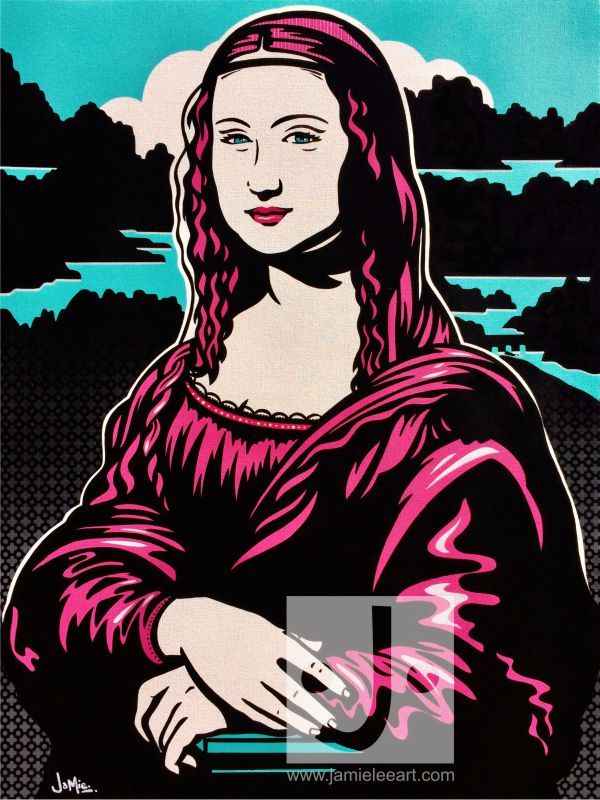 Mona Lisa pop art. Acrylic on canvas