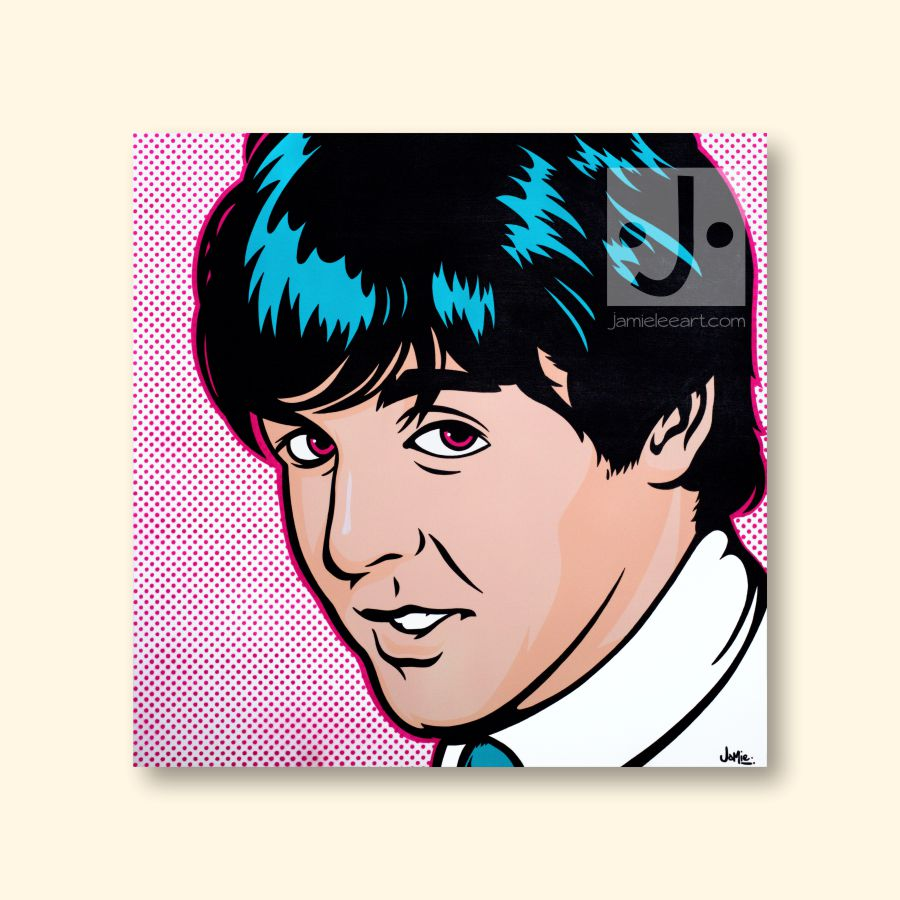 Paul McCartney Pop art. Acrylic on canvas 80cm x 80cm