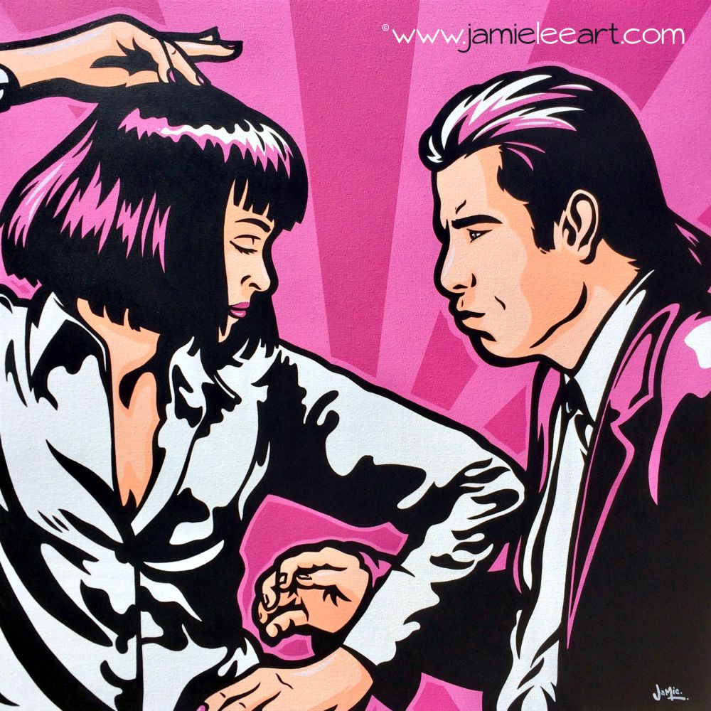 'Pulp Fiction' Original pop art, acrylic on canvas, 80cm x 80cm