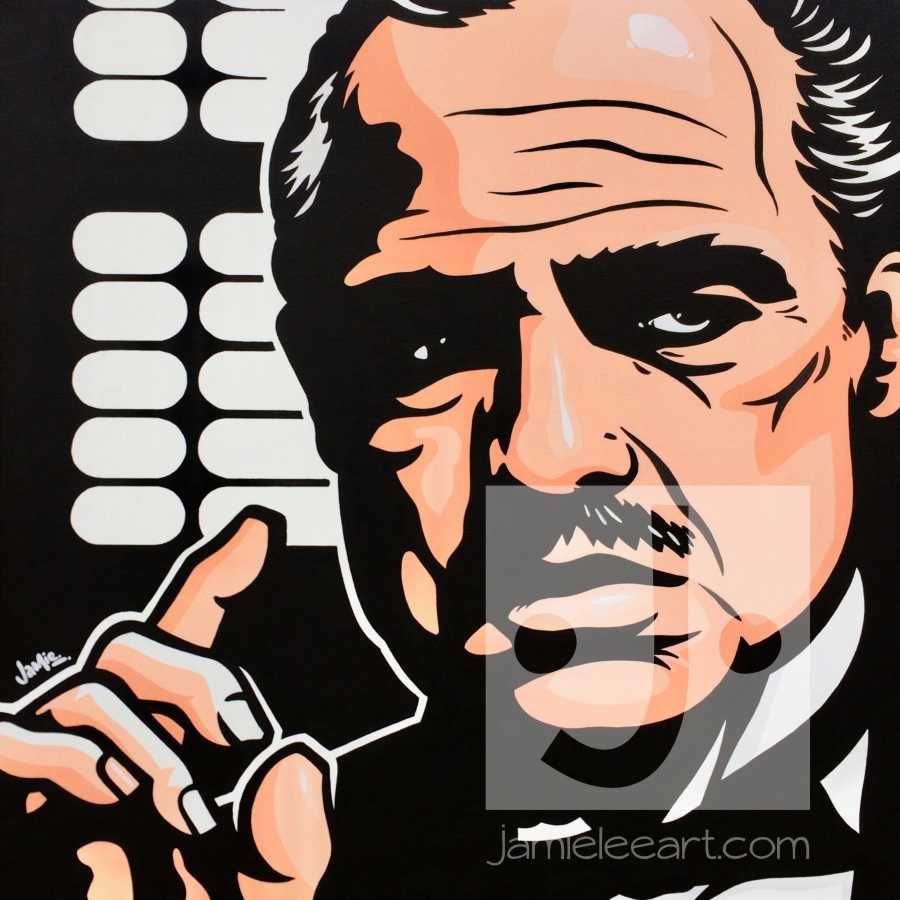 Vito Corleone, acrylic on canvas 50cm x 50cm