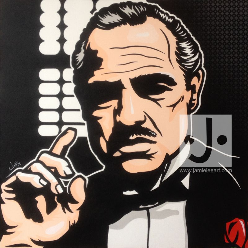 'Vito Corleone' Pop art painting, acrylic on canvas 80cm x 80cm