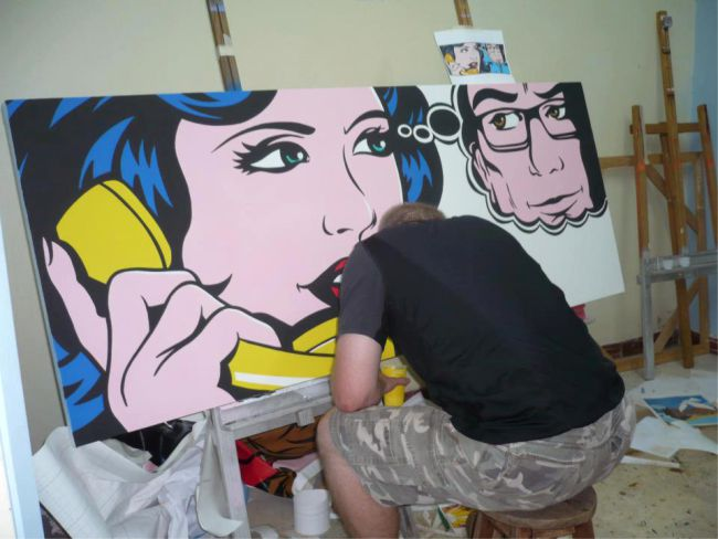 Jamie Lee Art at work